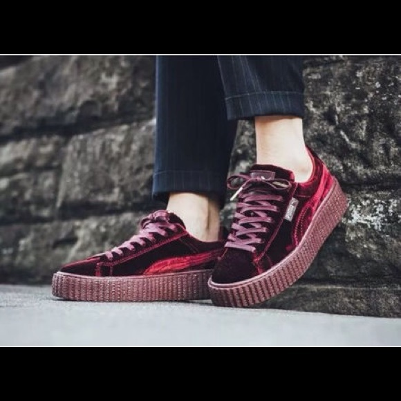 ... Creeper Sneakers  Puma Fenty Red Velvet Creepers  V8463 Burgundy ... 067e4b0be